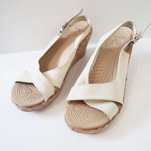 Crocs Leigh Ann Sling-back Wedge Sandal